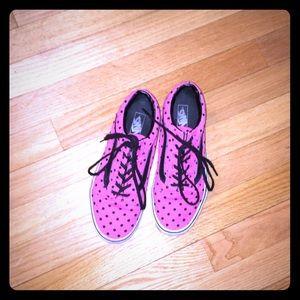 Pink polka dot old school VANs